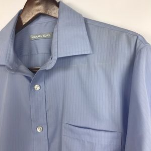 Michael Kors Mens Dress Shirt Size 16 1/2 / 34/35